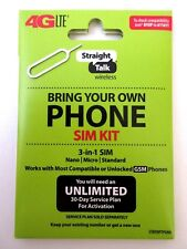 Straight Talk AT&T Nano SIM Card for Bring Your Own Phone Program BYOP w 4G-LTE