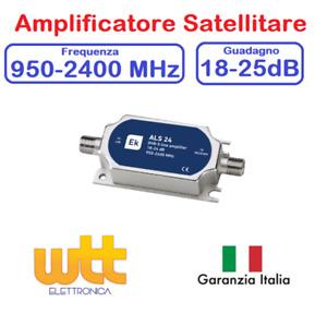 AMPLIFICATORE SEGNALE SATELLITARE DI LINEA SAT 18dB SKY TIVUSAT