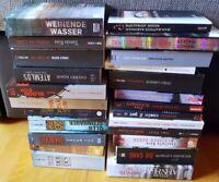 24 Bücher Romane Krimis Thriller Sammlung Spannung Dan Brown Larsson Straub Kiss