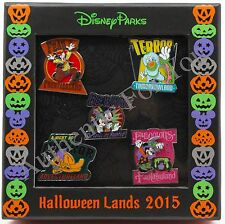 Disney Parks 2015 Halloween Haunted Lands Boxed Set Completer Pin Mickey Minnie