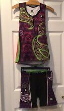 Women's Tri Fe/Zoca 2 piece Triathlon outfit size Large- EUC!