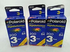 Polaroid 35mm 200 film High Definition 3 boxes 84 exposure expired 10/02
