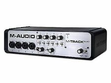 M-Audio M-track Quad 4ch Audio Midi USB Interface Studio 24bit Mixer Software