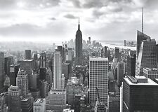 Mural wallpaper 368x254cm black white New York City Skyline photo wall +Adhesive