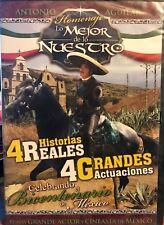 ANTONIO AGUILAR,LO MEJOR DE LO NUESTRO 4 HISTORIAS REALES, DVD NEW.