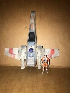 Star Wars Vintage X-Wing Fighter Tonka 1995 with Luke Skywalker Figure