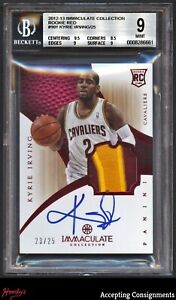 2012-13 Immaculate Red Kyrie Irving 2-Color RPA PATCH AUTO 23/25 BGS 9 Mint RC