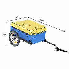 Bike Cargo Cart Trailer - Yellow/Blue/Black