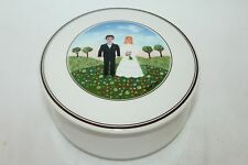 VILLEROY & BOCH Luxembourg NAIF Porcelain Wedding Couple Lidded Trinket Box