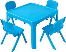Tisch- und Stuhl-Set für Kinder in Blau