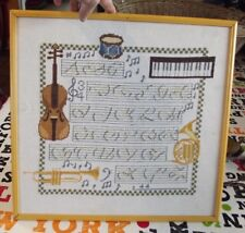 Embroidery cross stitch kit DIY Musician Music Instrument mosaic canvas painting