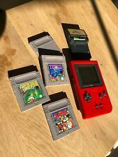 GameBoy Pocket Rot / Tetris Dr. Mario Tennis Game Boy