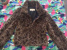 Karen Millen Faux Fur Leopard Coat Jacket