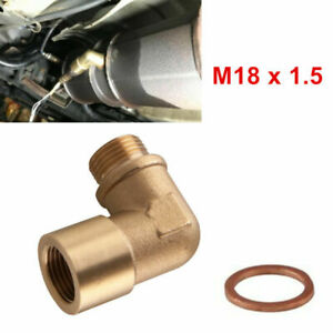 Car O2 Bung Extension M18X1.5 90° Oxygen Sensor Angled Extender Spacer Exhaust