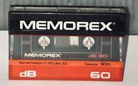 Vintage Memorex dB 60 Cassette 90m ~ Normal Position. (1 Cassette Tape) NEW!!!