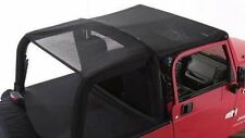 Rampage Combo Brief & Topper - Black Mesh fits 1997-2006 Jeep Wrangler TJ 94301