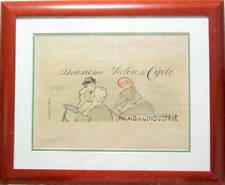1894 DEUXIEME SALON DU CYCLE LITHOGRAPHIE ORIGINALE DE JEAN LOUIS FORAIN VELO