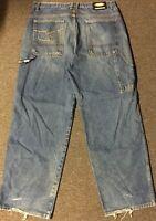 Vtg 90s Wu Wear Jeans 37/32 Baggy Tang Odb Gza Method Man Ghostface Killah Rza