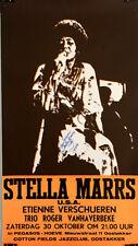 STELLA MARRS 1976 Belgium jazz *AUTOGRAPHED* concert poster ETIENNE VERSCHUEREN