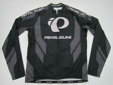 Mens XL Pearl Izumi Elite Thermal LTD Jersey long sleeve cycling gray black