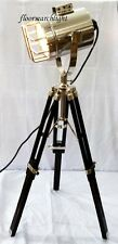Nautical Home DESIGNER Table Lamp Studio Searchlight Modern Tripod Spot Light
