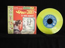 Tom Corbett Space Cadet At Space Academy YELLOW vinyl USA Pictue Sleeve 45