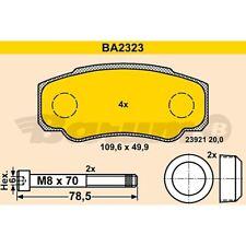 ORIGINAL BARUM BA2323 Bremsbelag Satz hinten Citroen Fiat