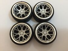 """1/18 scale Modified Tuning REAL ALUMINIUM 19"""" VOSSEN CONCAVE WHEELS IN SILVER"""