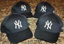 NEW YORK YANKEES NEW ERA MLB DEADSTOCK WHOLESALE LOT OF 4 OSFM HATS CAPS NEW