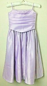 Prenom Ronald Joyce Girls Bridesmaid Flower Girl Dress Lilac Taffeta Age 6-7 600