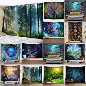 Large Wall Hanging Landscape Fantasy Throw Tapestry Bedspread Blanket Decoration