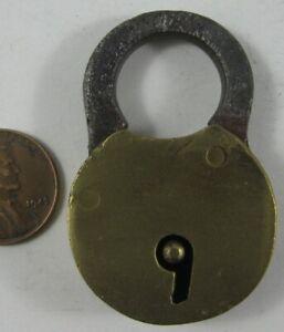 "Antique Small Brass Lock 2"" #1"