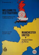 Programm EC 1977/78 Manchester United - FC Porto