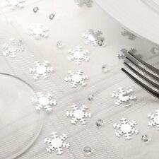 Tischdeko Weihnachten Schneekristall silber 28 g - Streudeko Weihnachten Advent