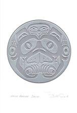 Haida Beaver Drum Bill Reid Silver Embossed Art Card Northwest Coast Native
