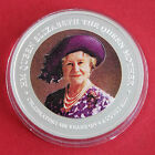 COOK ISLANDS 2000 COLOURED $1 QUEEN MOTHER 1oz .999 SILVER PROOF