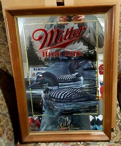 "MILLER BEER MIRROR WILDLIFE SERIES ""THE LOON""  1ST PRINTING NEW"