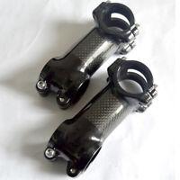 Bicycle Carbon Fiber 6/17 Degree 70-100mm MTB Road Bike Handlebar Stem 31.8mm