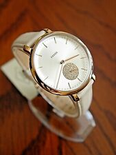 New Women's Fossil Jacqueline Leather Watch ES4471