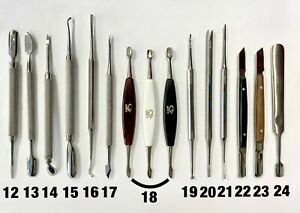 #12-24   Professional stainless pushers and files for manicure and pedicure