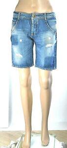 Jeans Corti Donna Pantaloni Shorts MET Italy Pantaloncini SA222 Blu Tg 27 veste+
