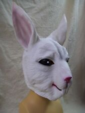 White Rabbit Costume Mask Ears Hare Wonderland Bunny Peter Cottontail Lola Babs