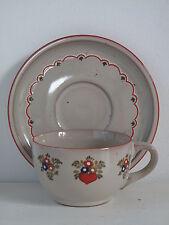 Top! Pfalzkeramik Vroni Herz Kaffeetasse mit Untertasse Kaffeegedeck Teetasse