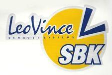 LEO VINCE SBK EXHAUST SILENCER BADGE STICKER HIGH TEMP RESISTANT RACING BIKE