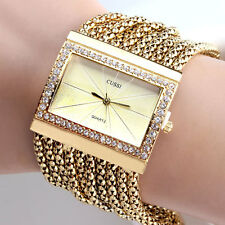 Edelstahl Armbanduhr Zahlen Uhr Damenuhr Geschenk Legierung mit Strass Kristall