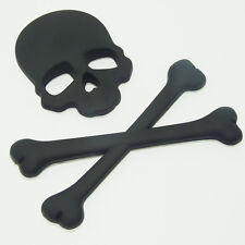 Chrome Black/Gold/Silver 3D Skull Bone Metal Car and Emblem Badge Decals Sticker