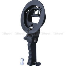 Speedlight Flash Bracket Holder for Bowens Chuck Reflector Beauty Dish Snoot