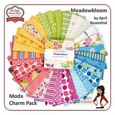 Moda Meadowbloom Charm Pack Squares Fabric Meadow-bloom modern vintage retro NEW