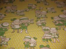 VINTAGE 70'S POP ART TWIN SIZE FLAT SHEET JOAN WALSH ANGLUND  POP ART CHILDREN