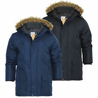 Mens Parka Jacket Brave Soul Aberdeen Ripstop Heavy Padded Fur Hooded Coat